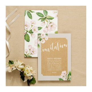 botanicals pink invite photo