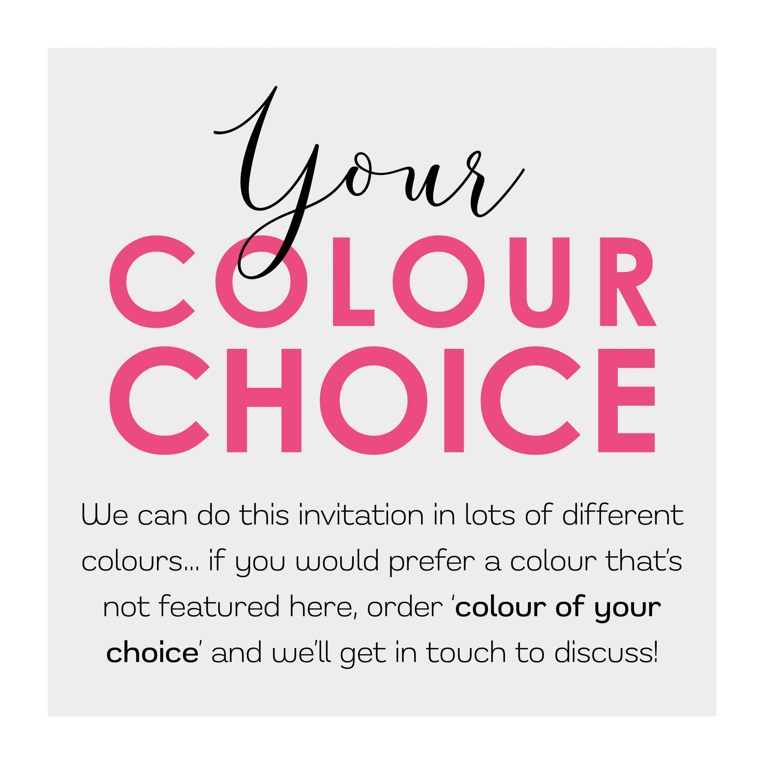 Colour of your choice 800×800