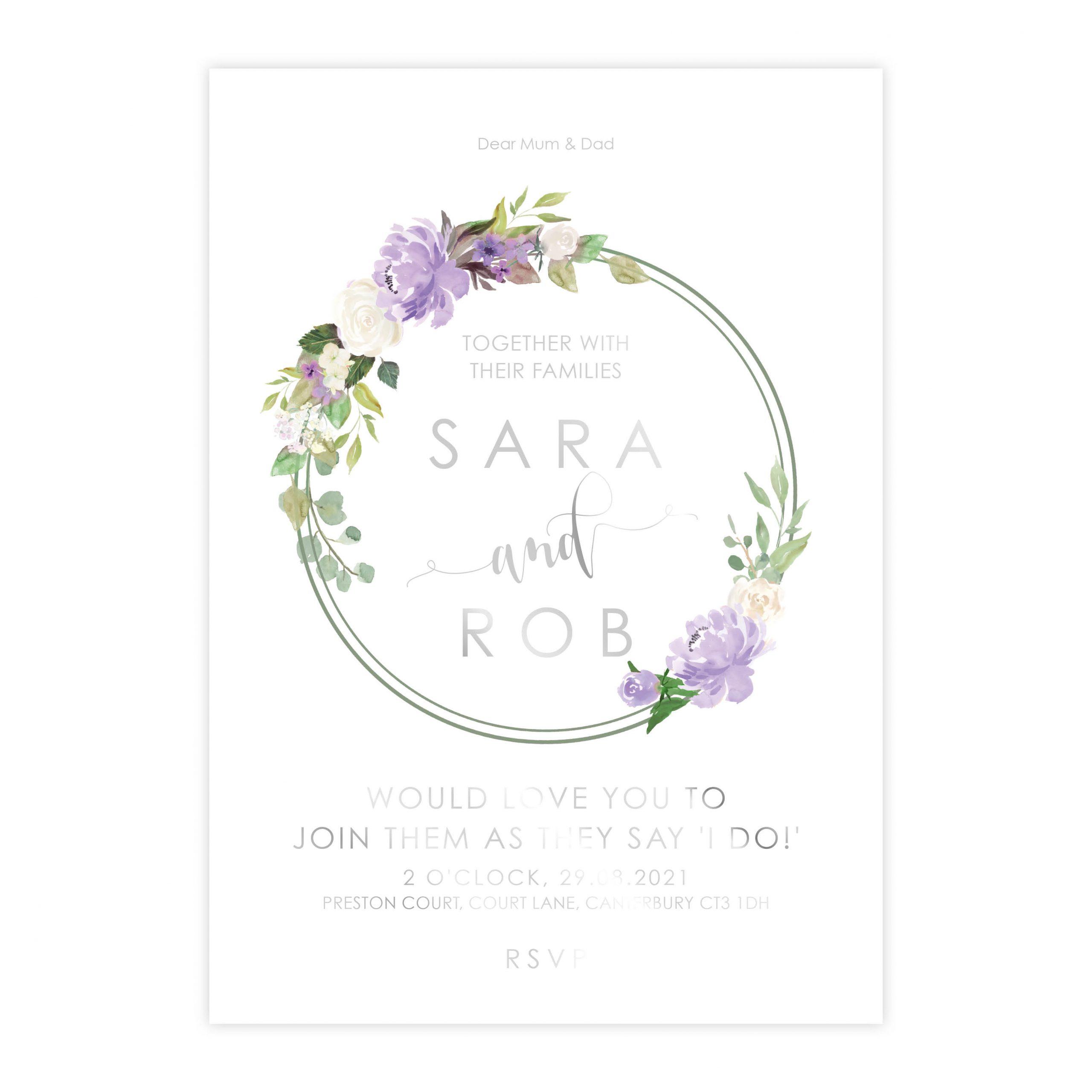FH purple foil invite