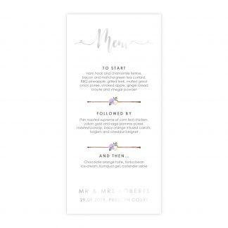 FH purple foil menu