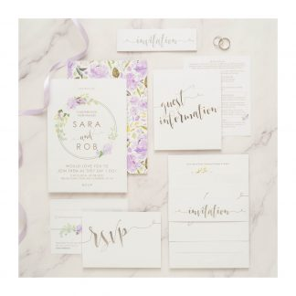 FH set lilac and silver