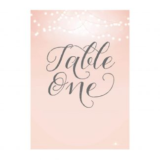 Nightglow blush pink table number