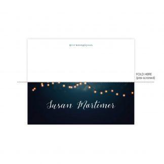 Nightglow navy place name card