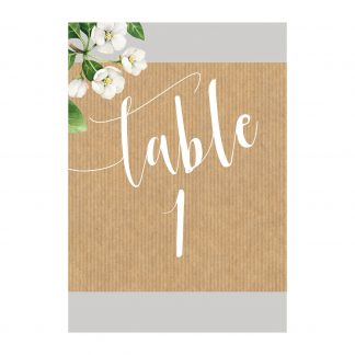 botanicals table no
