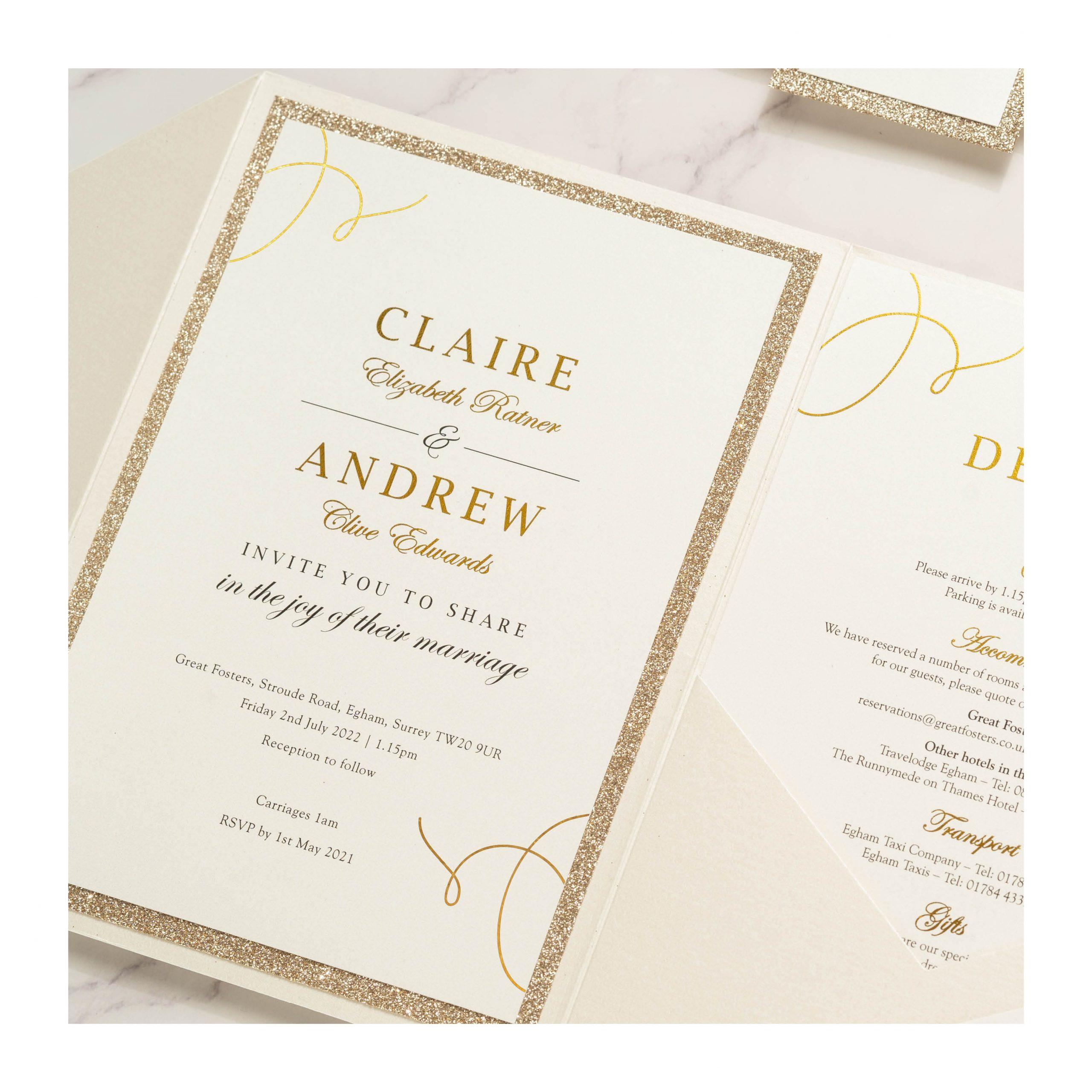 Elegance invite close up photo