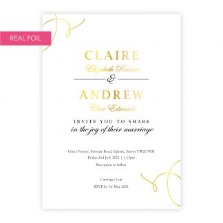 Elegance invite gold