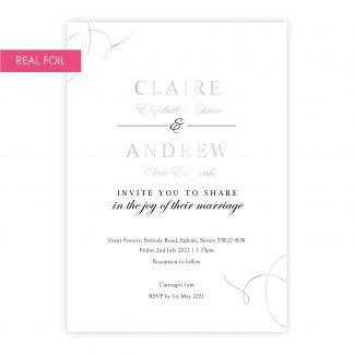 Elegance invite silver