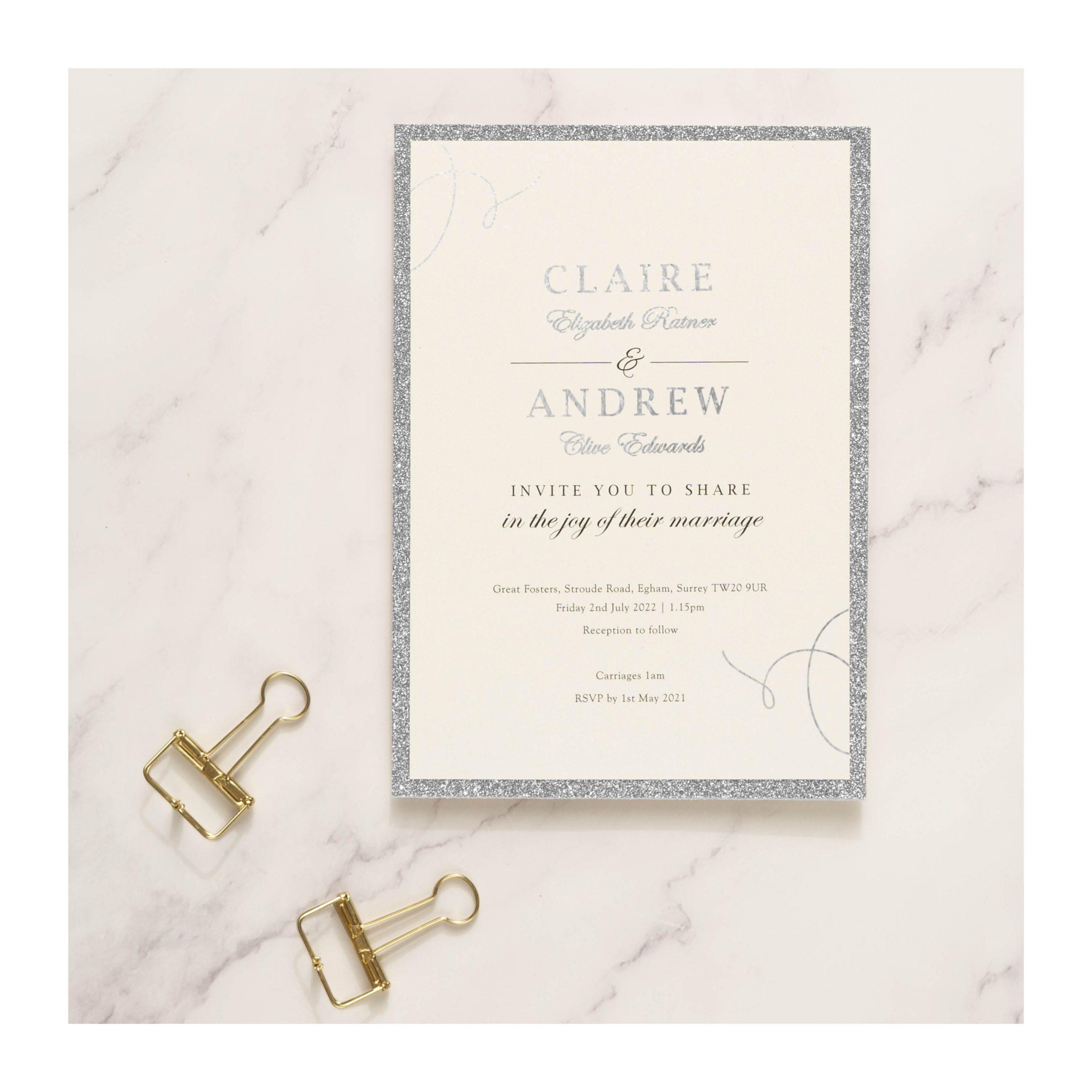 Elegance photos – invite silver