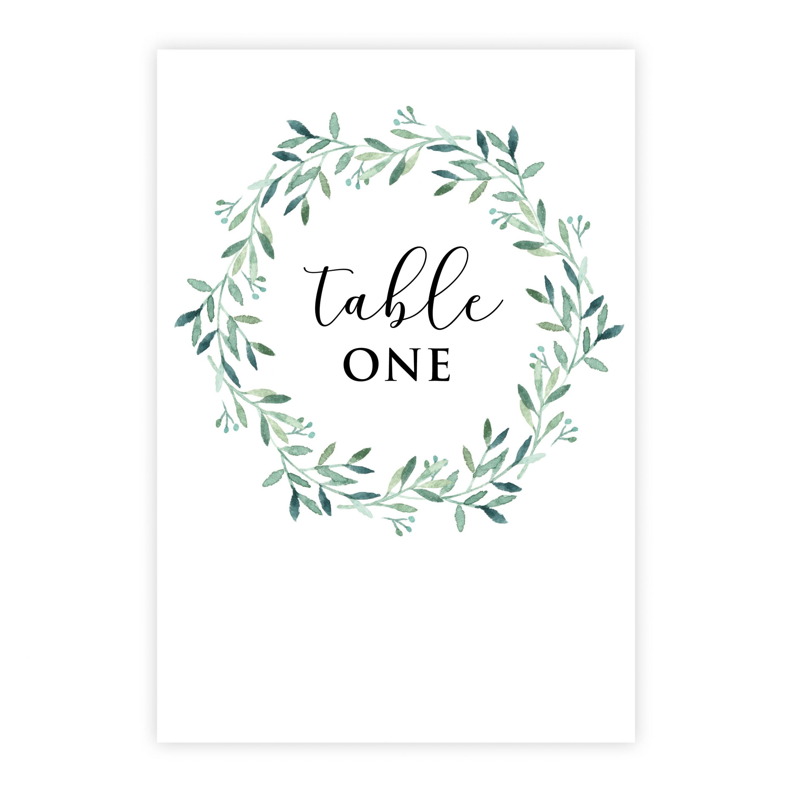 Olive wreath 800×800 table number